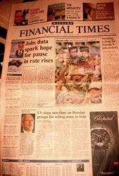 FT front page