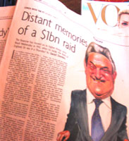 George Soros illustration in Weekend FT